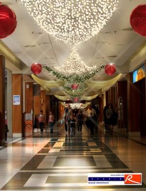 Progetto allestimento di natale centro commercial Gallery
