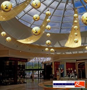 Progetto allestimento natalizio centro commercial Centro Leonardo